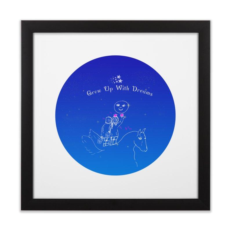 Grow Up With Dreams Home Framed Fine Art Print by Ellarte Artist Shop