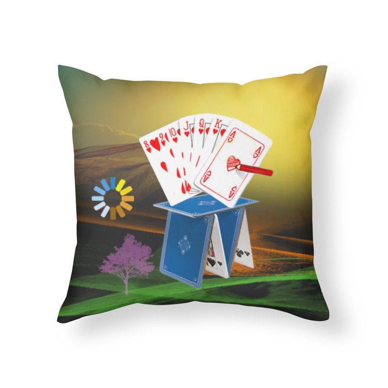 GoodFortune Home Throw Pillow by Ellarte Artist Shop