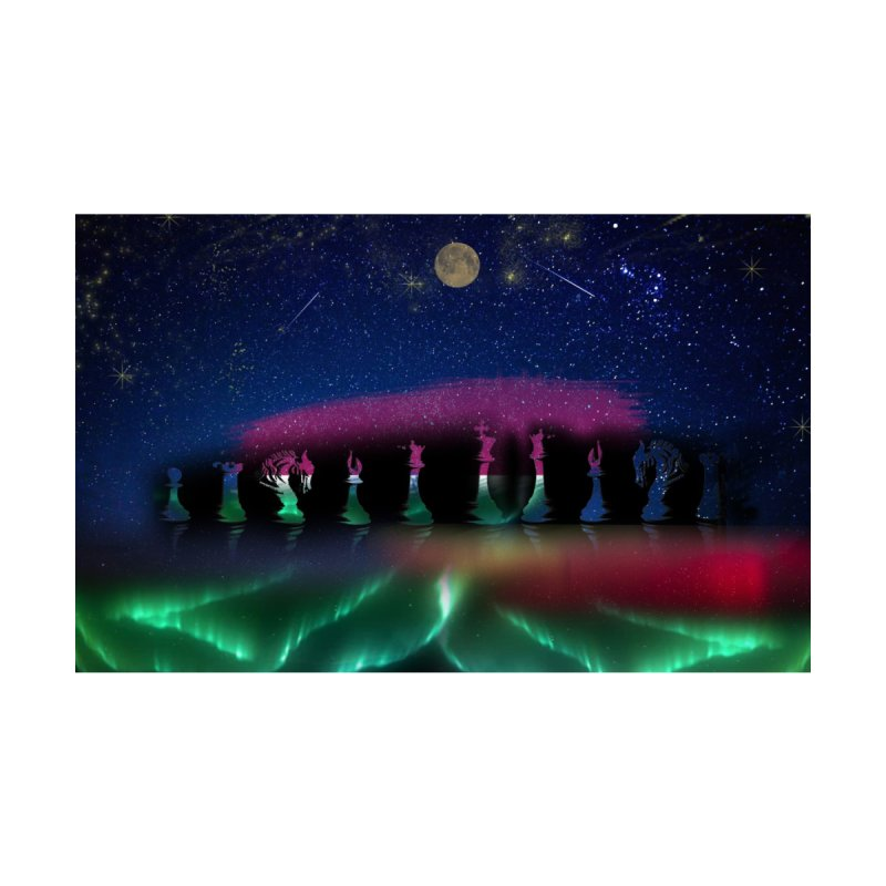 Dancing Aurora Home Mounted Aluminum Print by Ellarte Artist Shop