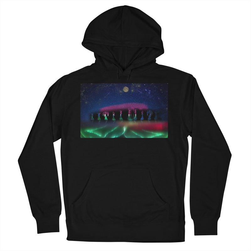 Dancing Aurora Men's Pullover Hoody by Ellarte Artist Shop