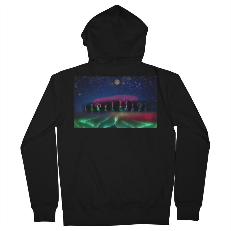 Dancing Aurora Men's Zip-Up Hoody by Ellarte Artist Shop