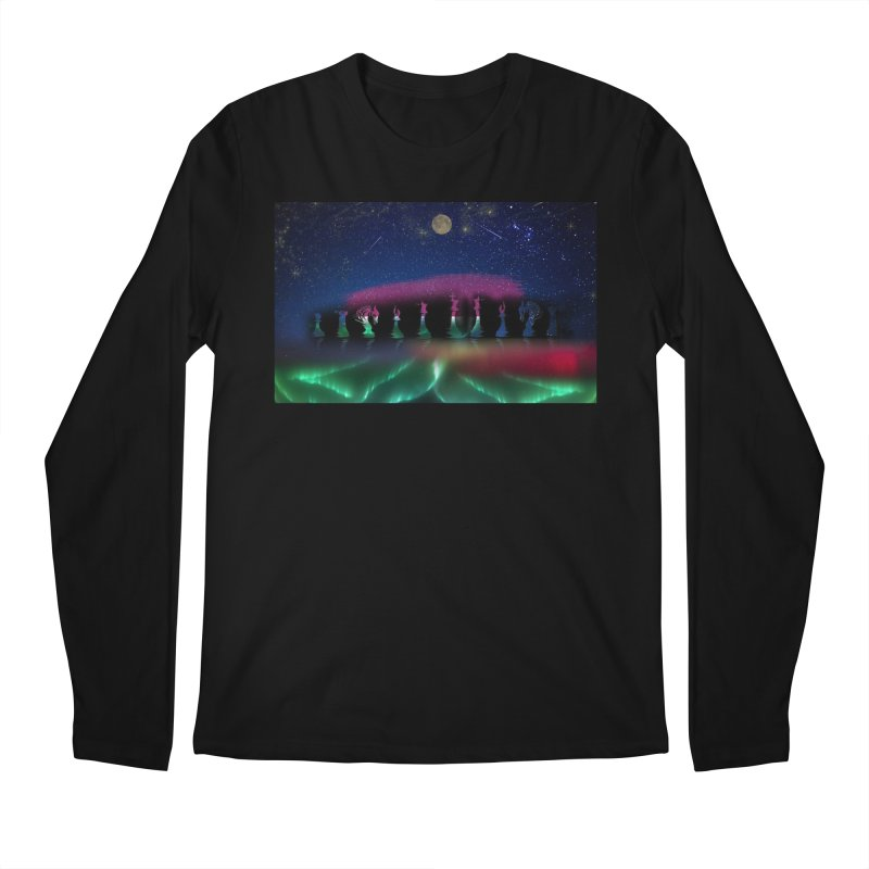 Dancing Aurora Men's Longsleeve T-Shirt by Ellarte Artist Shop