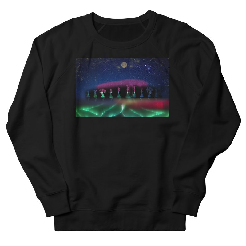 Dancing Aurora Women's Sweatshirt by Ellarte Artist Shop