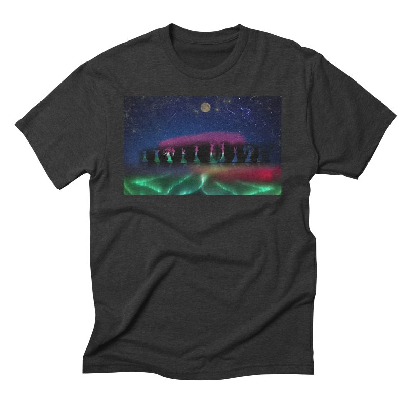 Dancing Aurora Men's Triblend T-Shirt by Ellarte Artist Shop