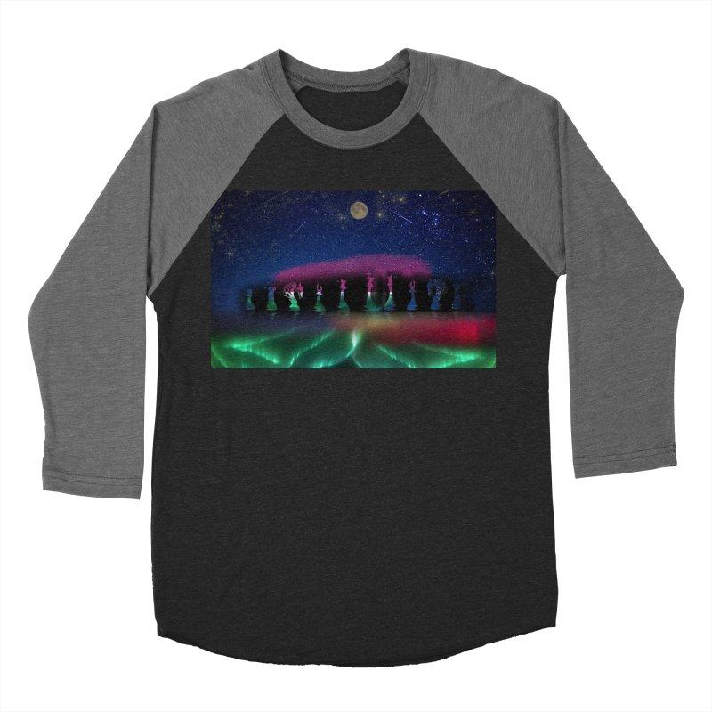 Dancing Aurora Men's Baseball Triblend T-Shirt by Ellarte Artist Shop