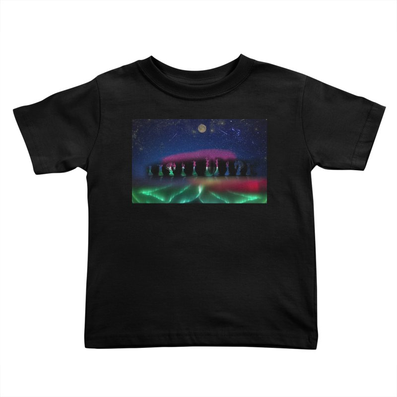 Dancing Aurora Kids Toddler T-Shirt by Ellarte Artist Shop