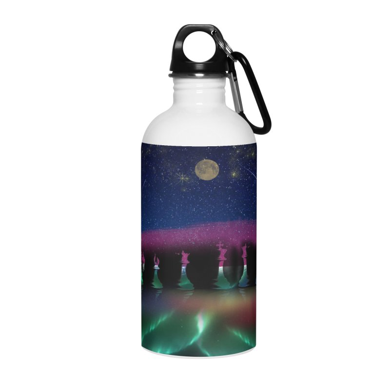 Dancing Aurora Accessories Water Bottle by Ellarte Artist Shop