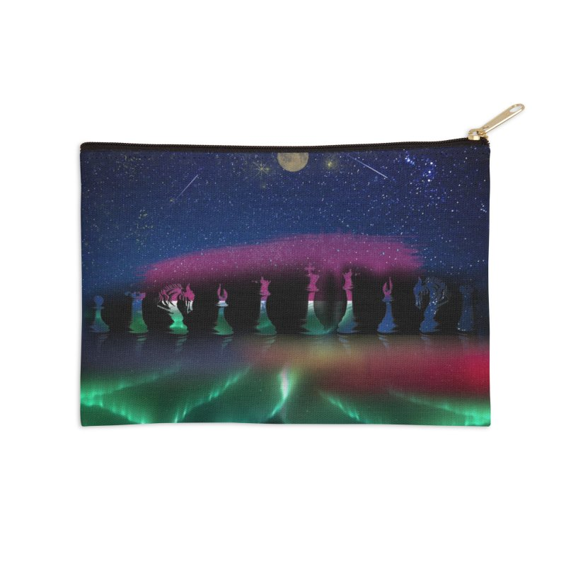 Dancing Aurora Accessories Zip Pouch by Ellarte Artist Shop