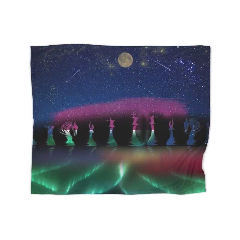 Dancing Aurora Home Blanket by Ellarte Artist Shop