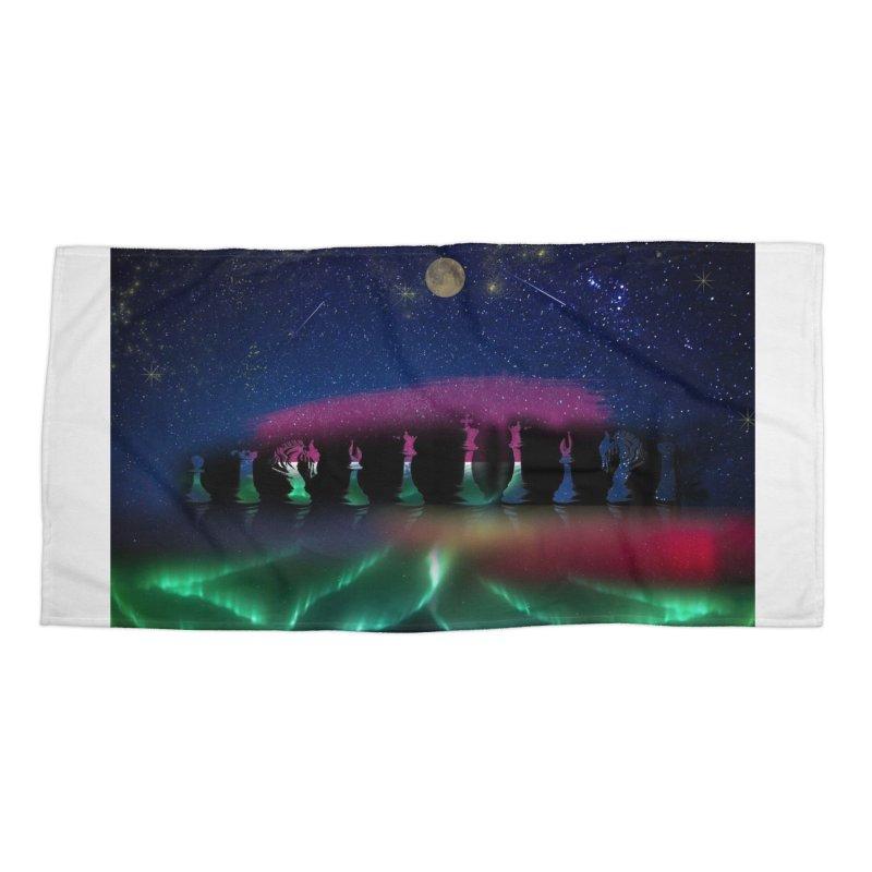 Dancing Aurora Accessories Beach Towel by Ellarte Artist Shop
