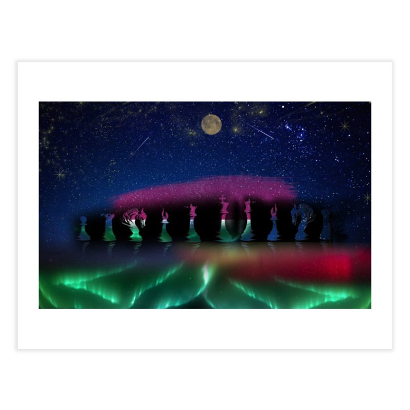 Dancing Aurora Home Fine Art Print by Ellarte Artist Shop