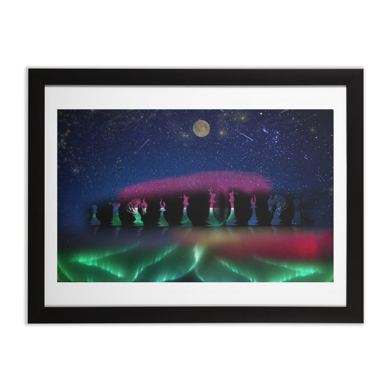 Dancing Aurora Home Framed Fine Art Print by Ellarte Artist Shop