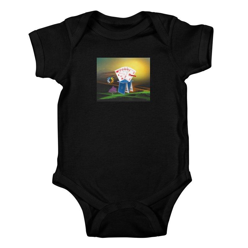 Good Fortune Kids Baby Bodysuit by Ellarte Artist Shop
