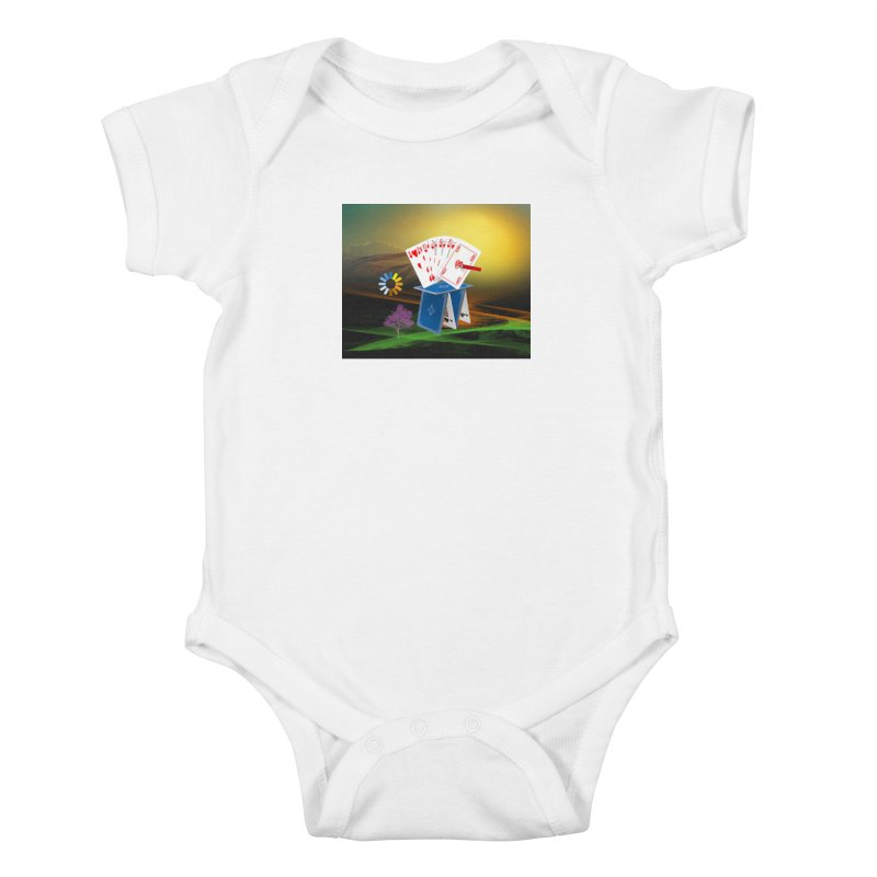 Good Fortune Kids Baby Bodysuit by Ellarte Artist Shop