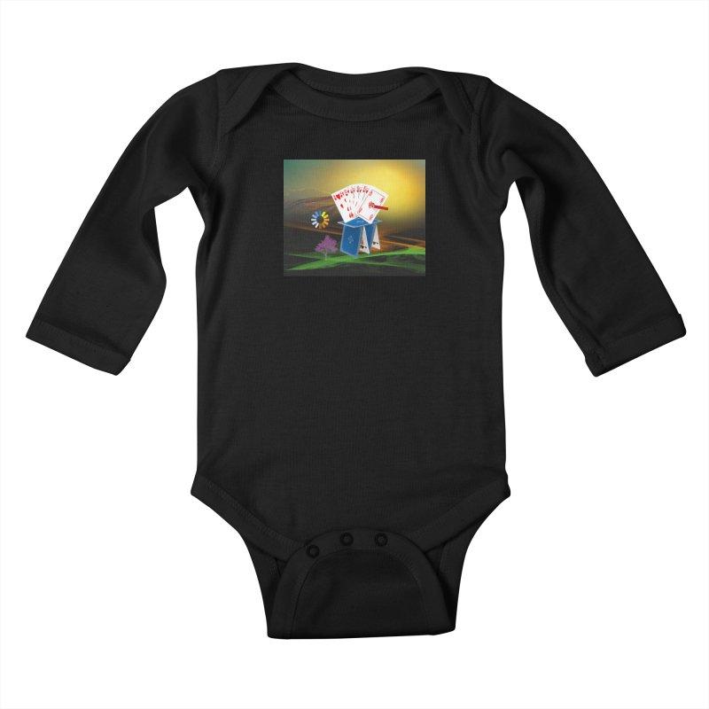 Good Fortune Kids Baby Longsleeve Bodysuit by Ellarte Artist Shop