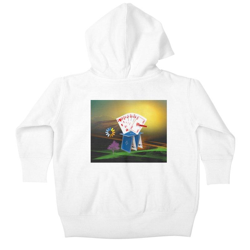Good Fortune Kids Baby Zip-Up Hoody by Ellarte Artist Shop