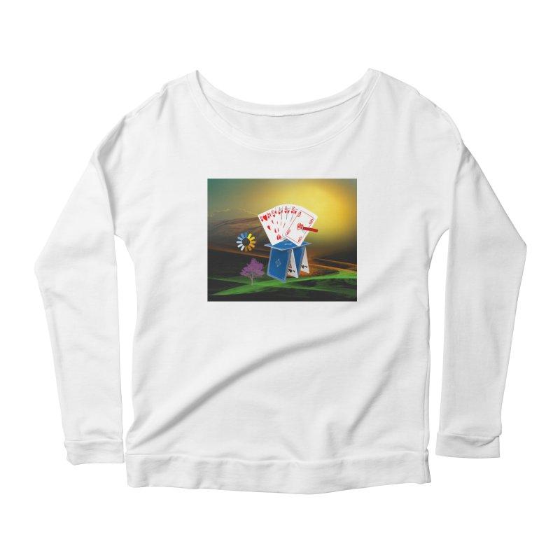 Good Fortune Women's Scoop Neck Longsleeve T-Shirt by Ellarte Artist Shop
