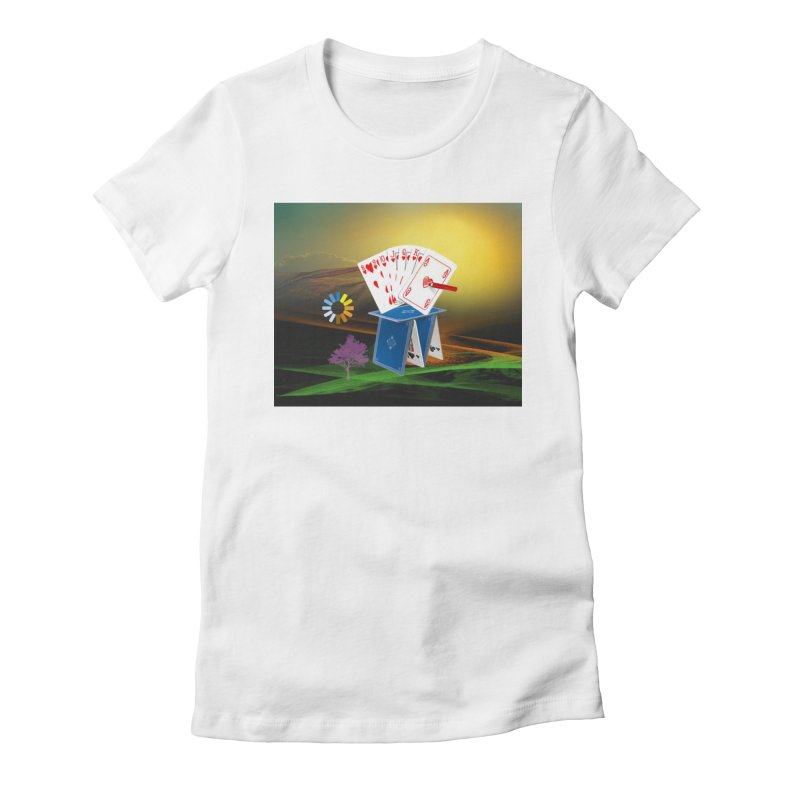 Good Fortune Women's Fitted T-Shirt by Ellarte Artist Shop