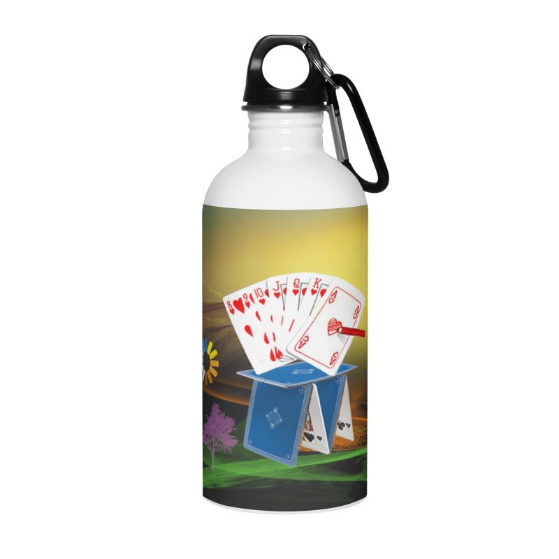 Good Fortune Accessories Water Bottle by Ellarte Artist Shop