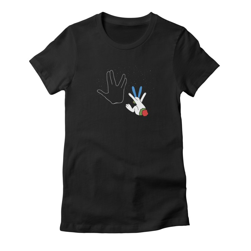 Live Long And Prosper Women's Fitted T-Shirt by Ellarte Artist Shop