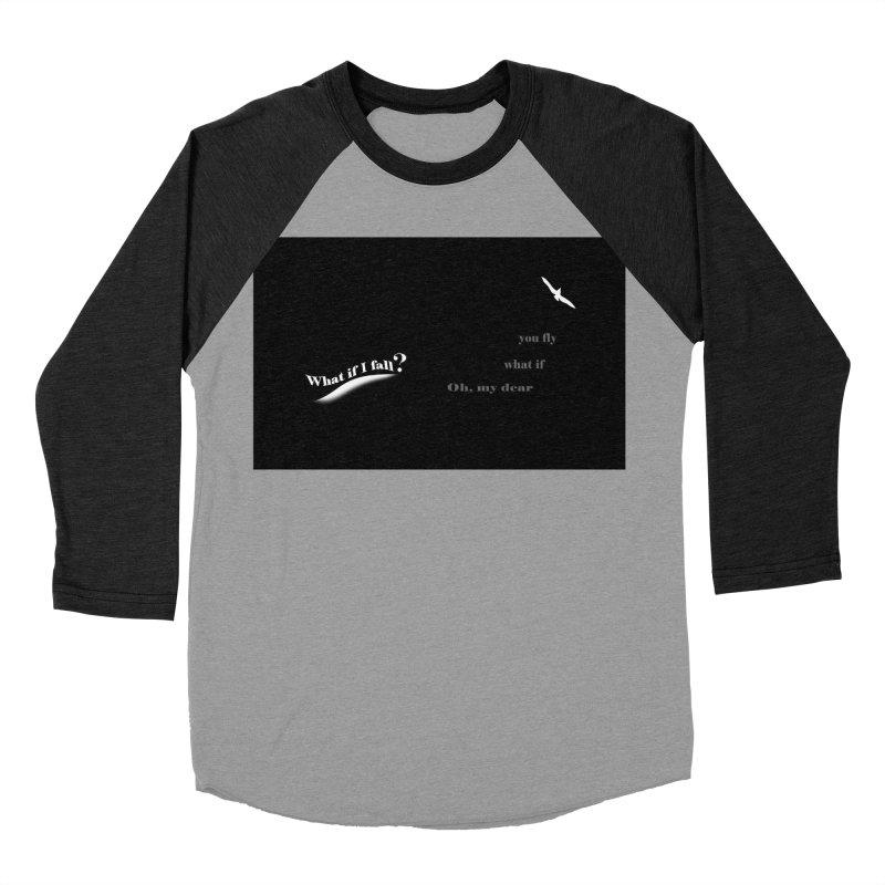 What If Women's Baseball Triblend Longsleeve T-Shirt by Ellarte Artist Shop