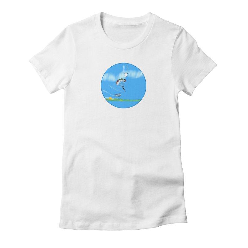 Borea Women's Fitted T-Shirt by Ellarte Artist Shop