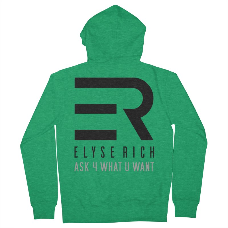 ElyseRich - ASK ER Collection UK Women's Zip-Up Hoody by ElyseRich's Artist Shop