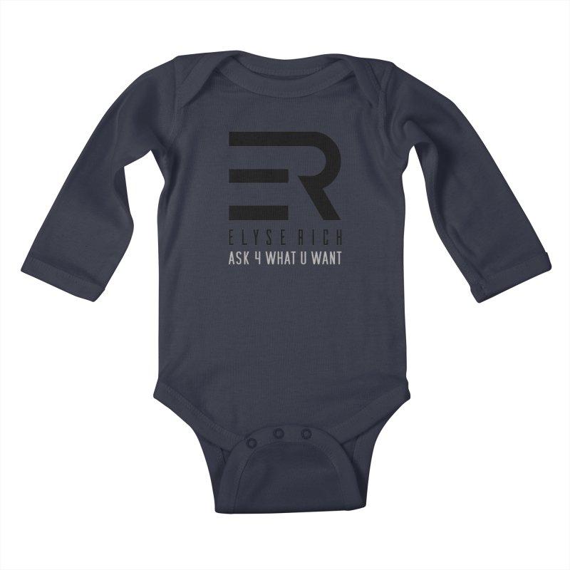 ElyseRich - ASK ER Collection UK Kids Baby Longsleeve Bodysuit by ElyseRich's Artist Shop