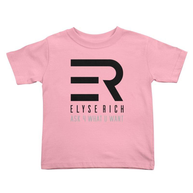 ElyseRich - ASK ER Collection UK Kids Toddler T-Shirt by ElyseRich's Artist Shop