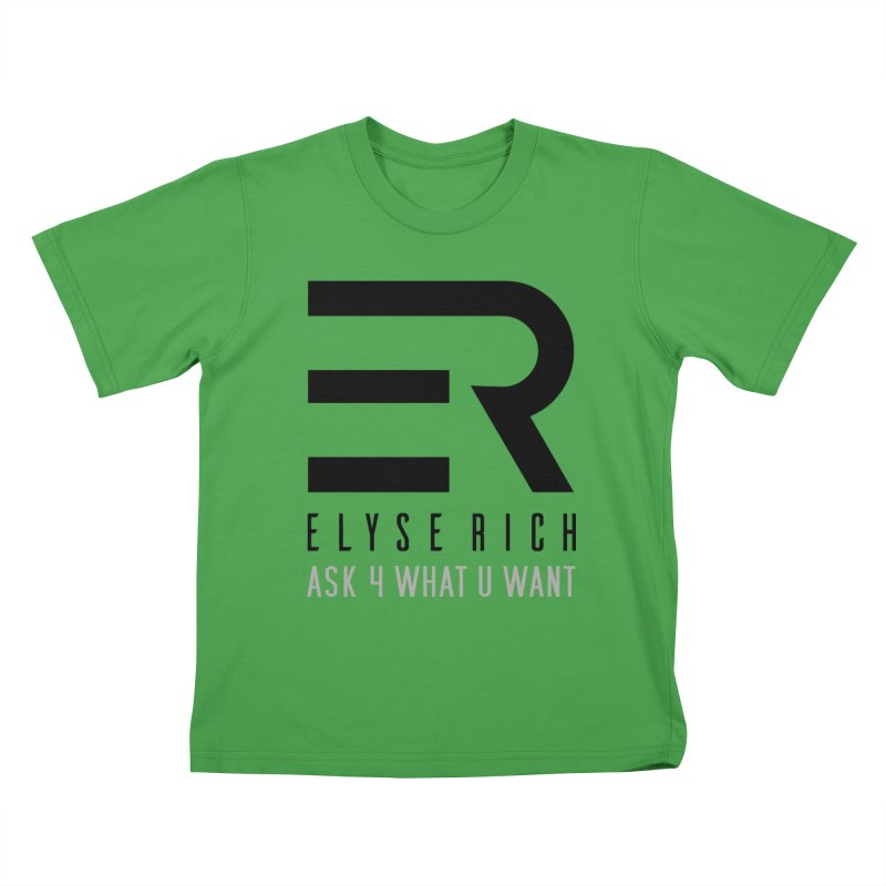ElyseRich - ASK ER Collection UK Kids T-Shirt by ElyseRich's Artist Shop