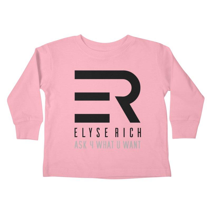 ElyseRich - ASK ER Collection UK Kids Toddler Longsleeve T-Shirt by ElyseRich's Artist Shop
