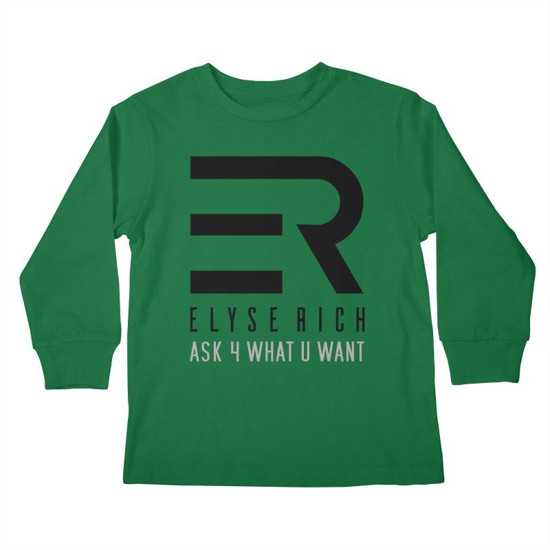 ElyseRich - ASK ER Collection UK Kids Longsleeve T-Shirt by ElyseRich's Artist Shop