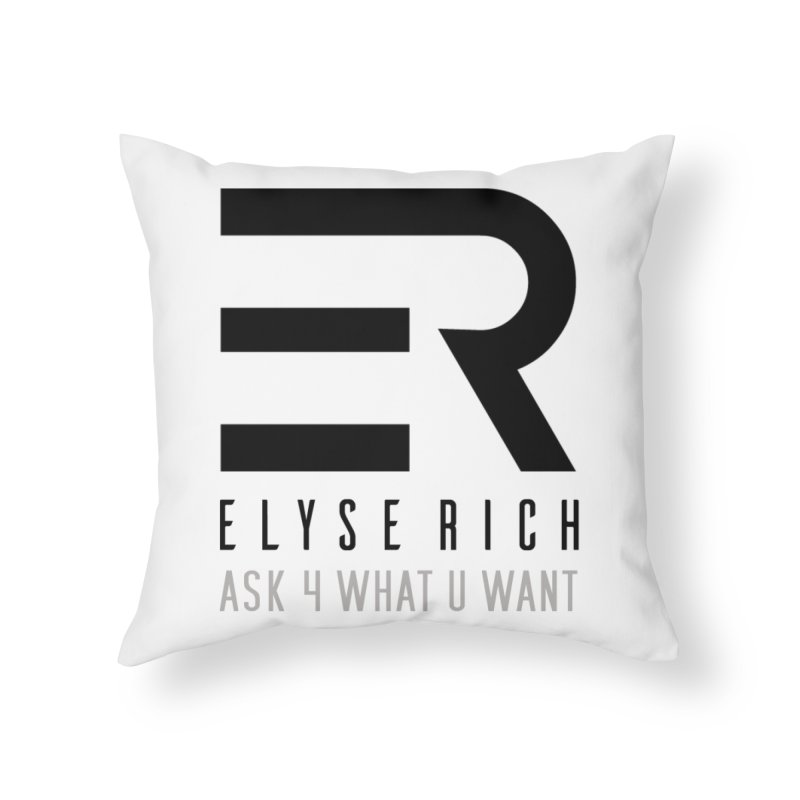 ElyseRich - ASK ER Collection UK Home Throw Pillow by ElyseRich's Artist Shop