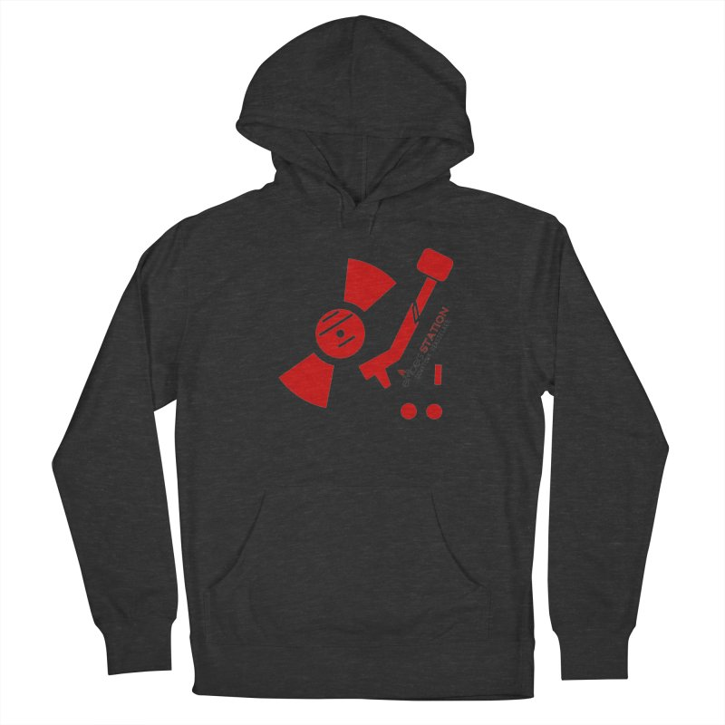 Vinyl T Men's French Terry Pullover Hoody by eMbers Station Swag Shop