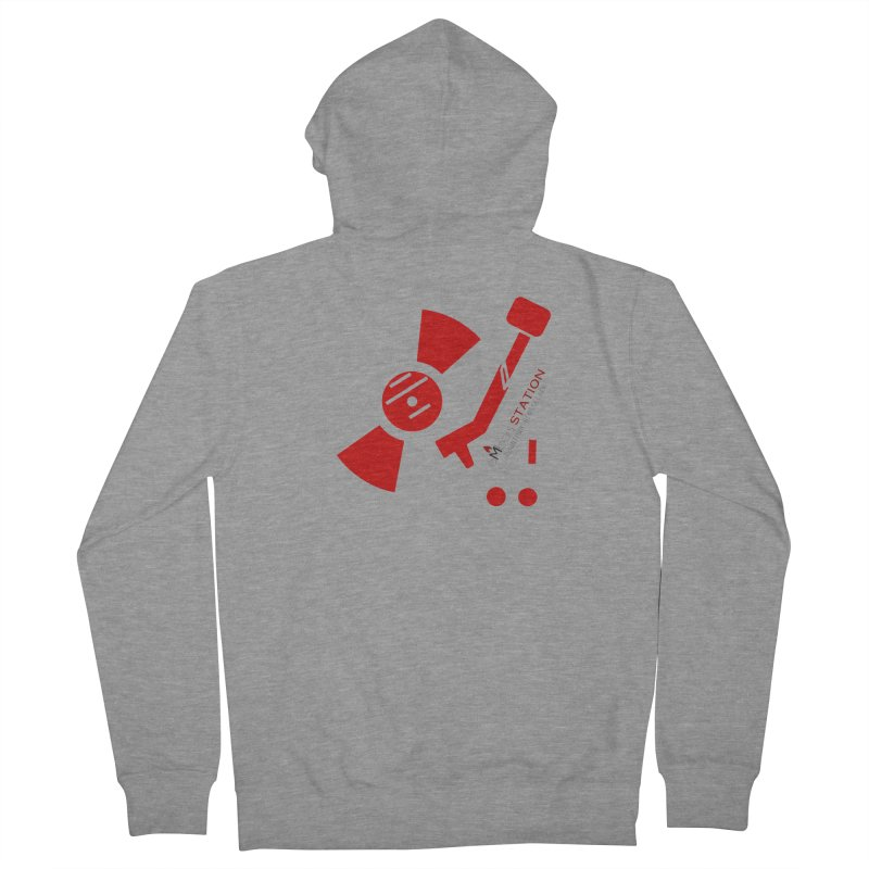 Vinyl T Men's French Terry Zip-Up Hoody by eMbers Station Swag Shop
