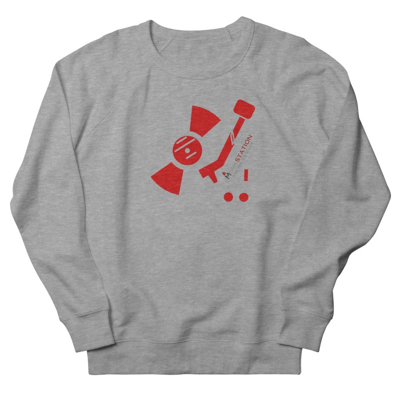 Vinyl T Men's French Terry Sweatshirt by eMbers Station Swag Shop