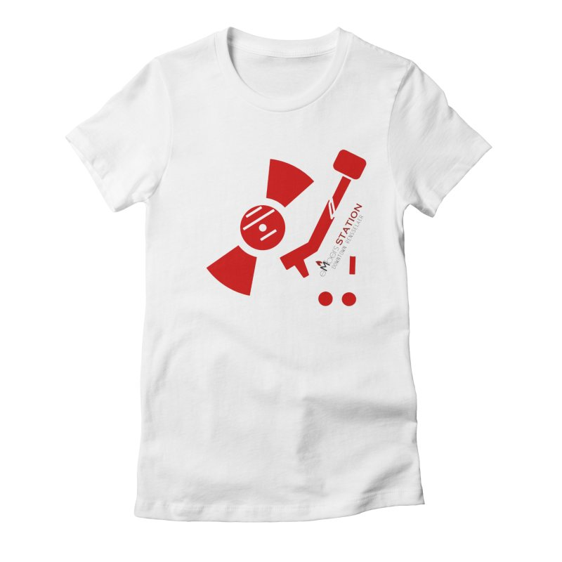 Vinyl T Women's Fitted T-Shirt by eMbers Station Swag Shop