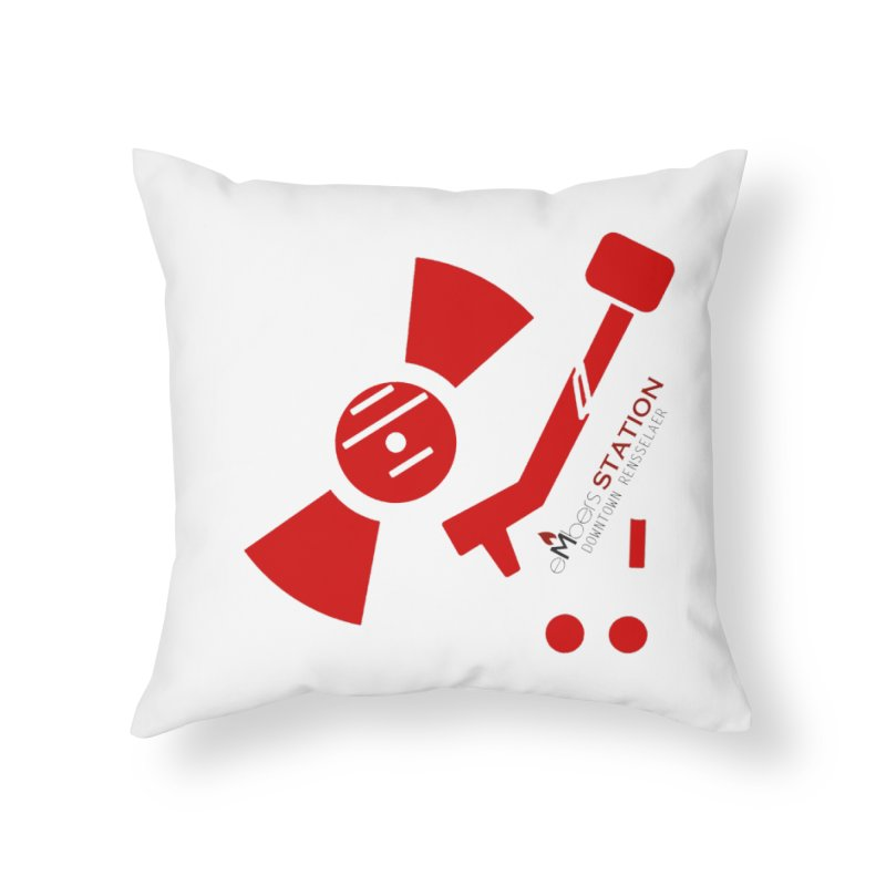 Vinyl T Home Throw Pillow by eMbers Station Swag Shop