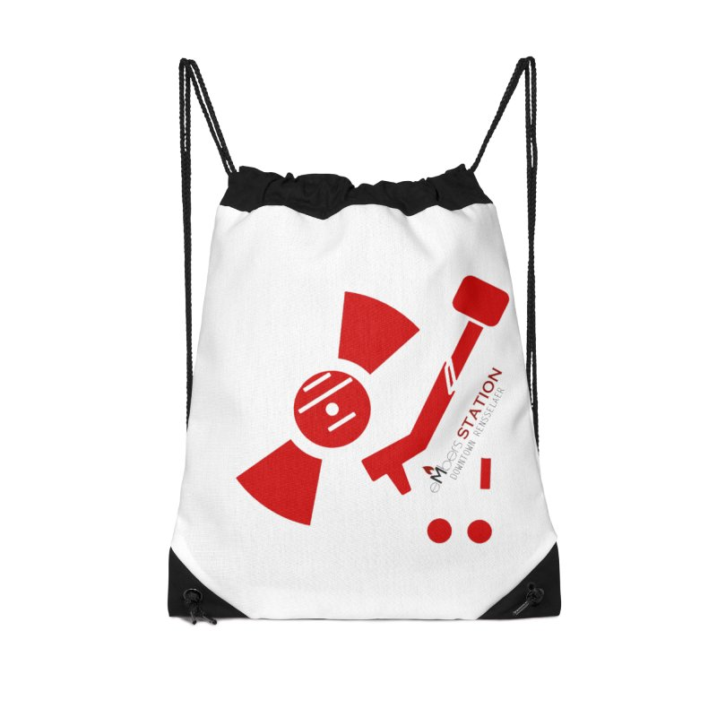 Vinyl T Accessories Drawstring Bag Bag by eMbers Station Swag Shop