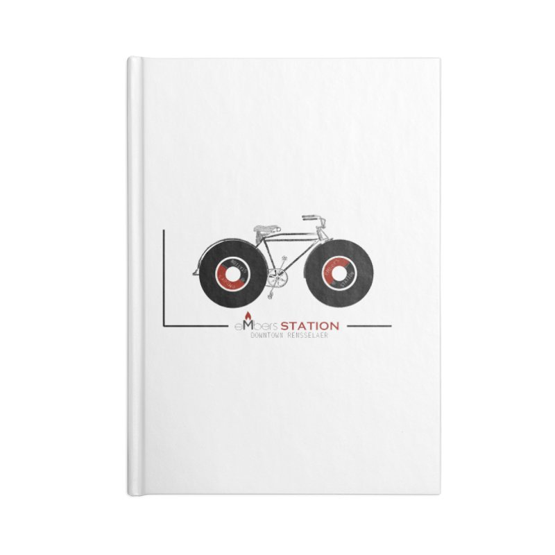 Vinyl Bike Accessories Lined Journal Notebook by eMbers Station Swag Shop