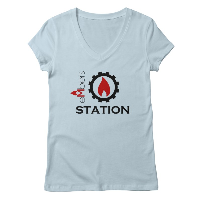 eMbers Station Women's Regular V-Neck by eMbers Station Swag Shop