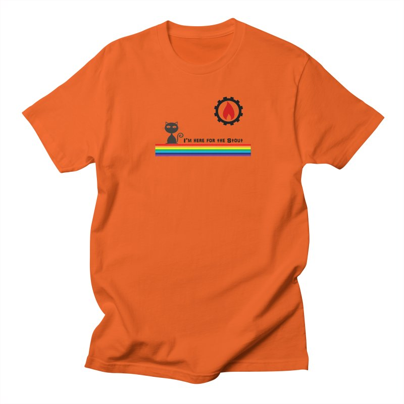 I'm Here for the Stout Men's T-Shirt by eMbers Station Swag Shop
