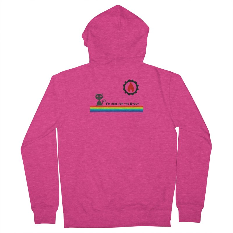 I'm Here for the Stout Women's French Terry Zip-Up Hoody by eMbers Station Swag Shop