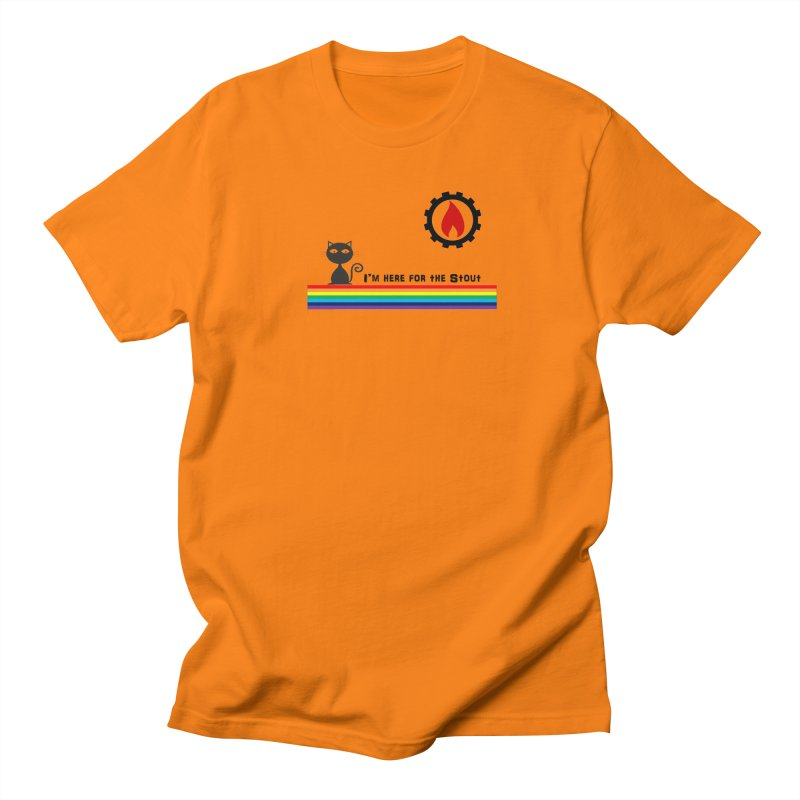 I'm Here for the Stout Men's Regular T-Shirt by eMbers Station Swag Shop
