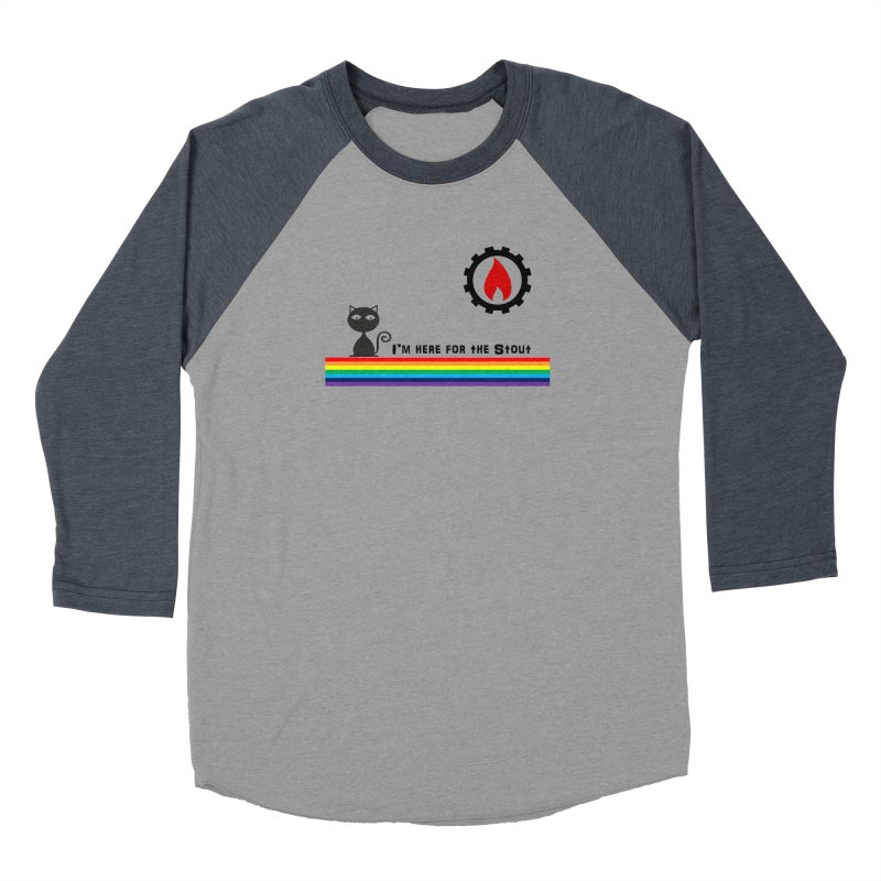 I'm Here for the Stout Women's Baseball Triblend Longsleeve T-Shirt by eMbers Station Swag Shop