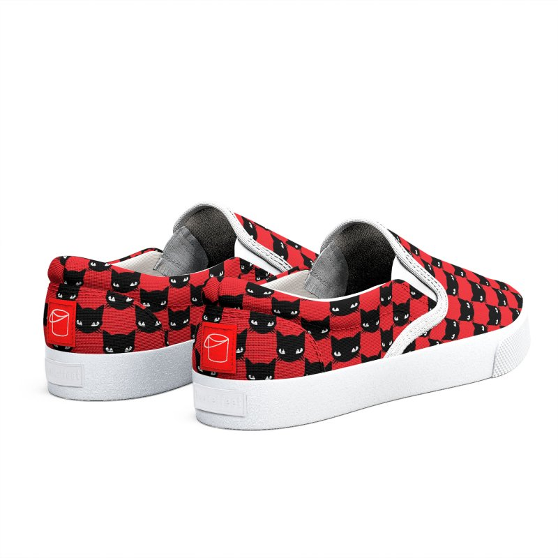 #KITTYCHEX RED/BLACK Men's Shoes by Emily the Strange Official