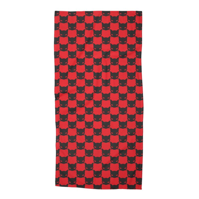 #KITTYCHEX RED/BLACK Accessories Beach Towel by Emily the Strange OFFICIAL