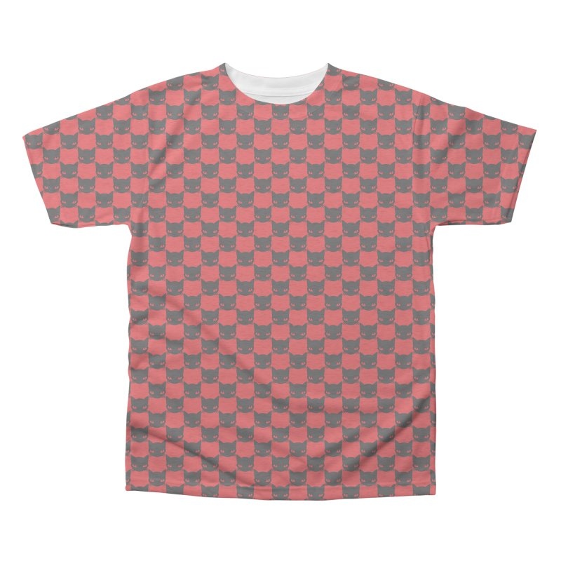 #KITTYCHEX RED/BLACK Men's Triblend All Over Print by Emily the Strange OFFICIAL