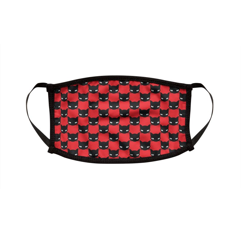 #KITTYCHEX RED/BLACK Accessories Face Mask by Emily the Strange Official