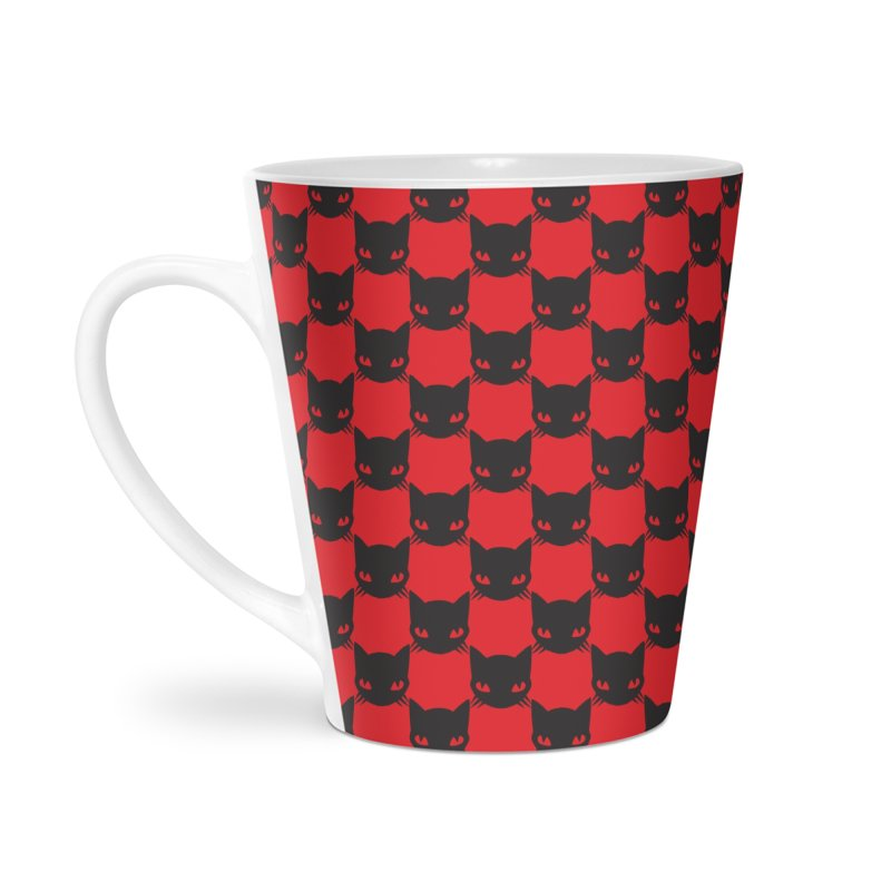 #KITTYCHEX RED/BLACK Accessories Latte Mug by Emily the Strange OFFICIAL